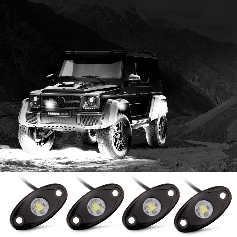 Rock Lights Off Road With 4 Pods Cree Led And Extended Wire Jeep Wiring For Extend