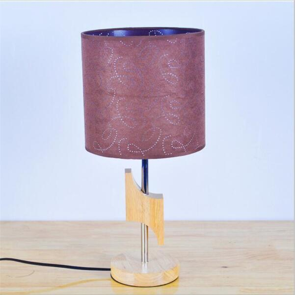 ... Fashion Modern Wooden Table Lamps Fabric Lampshade New Desig ...