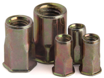 Round body plain rivet nut and close end rivet nut