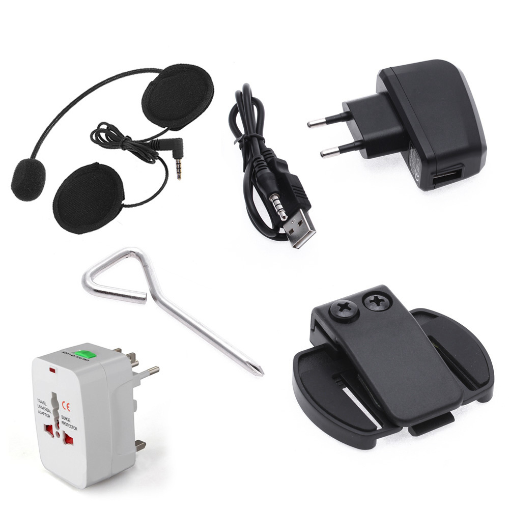 Bluetooth Motorcycle Helmet Intercoms Interphone Headsets 6