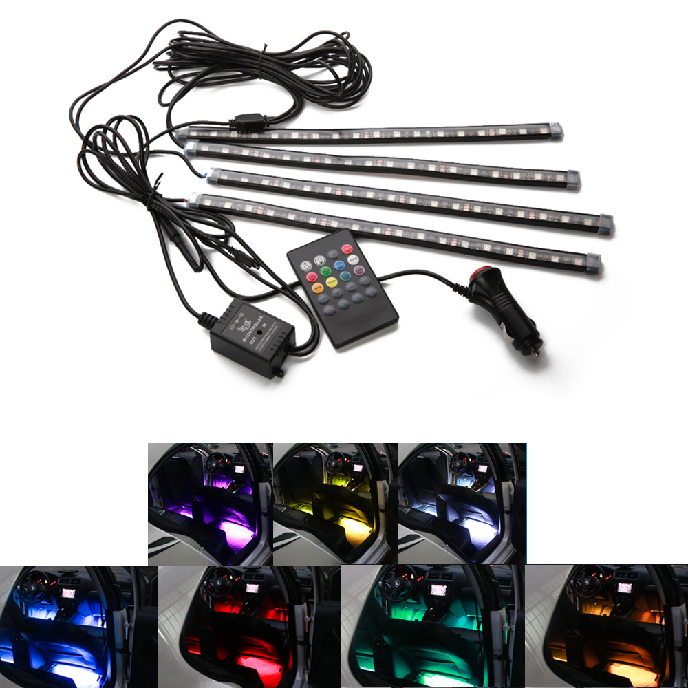 Colorful LED lights indoor atmosphere chassis lights set voi