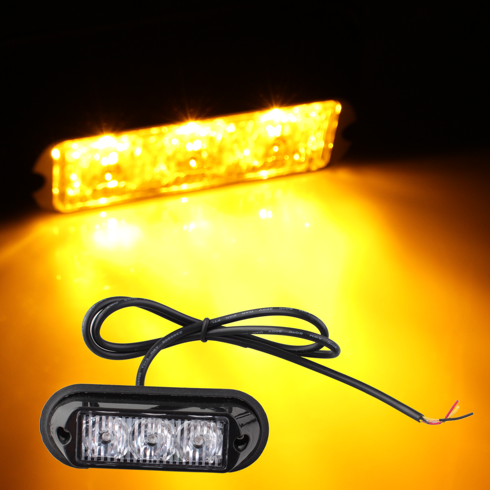 Carchet 3W High Power 3 LED Waterproof Car Truck Emergency S