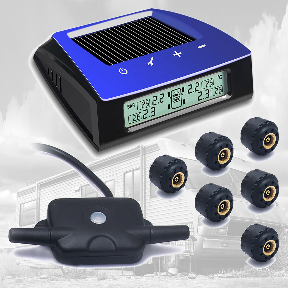 CARCHET RV Trailer Car Solar TPMS Tire Pressure Monitoring S