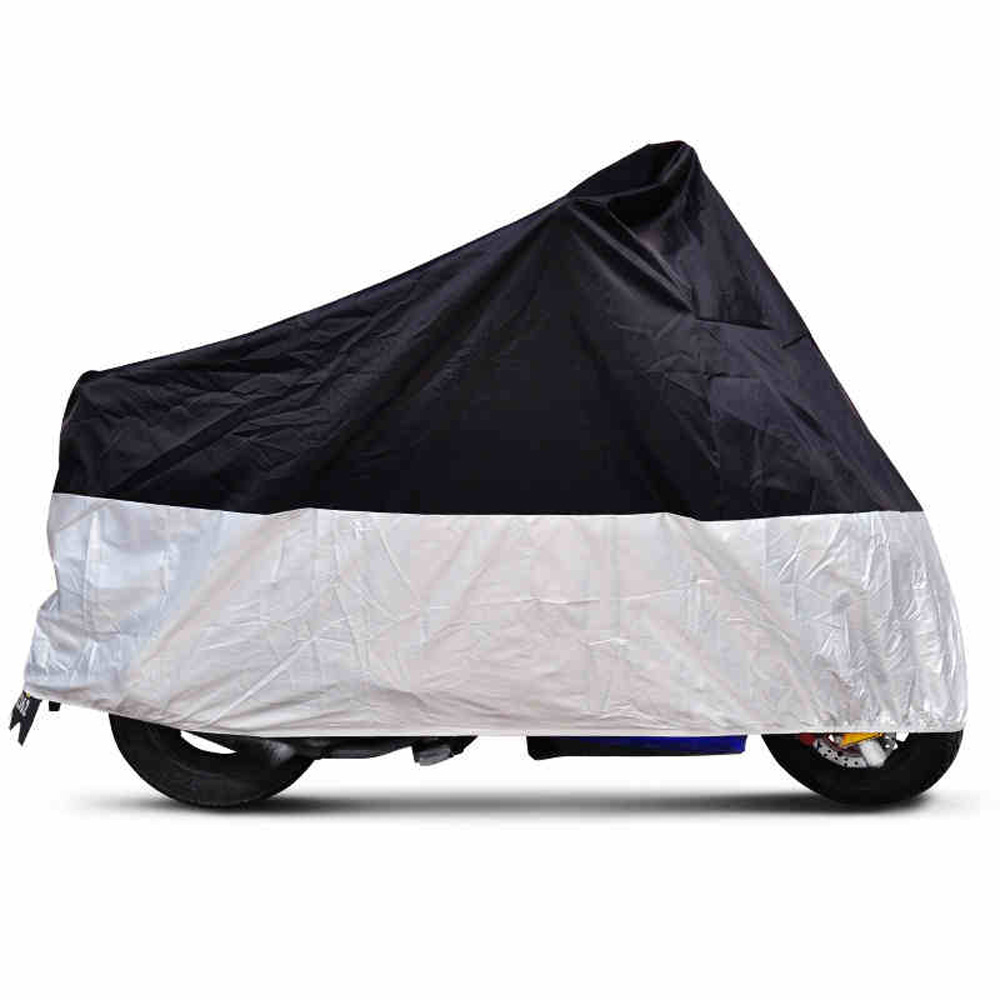 CARCHET Motorcycle Motorbike Waterproof Rain Cover Silver XL