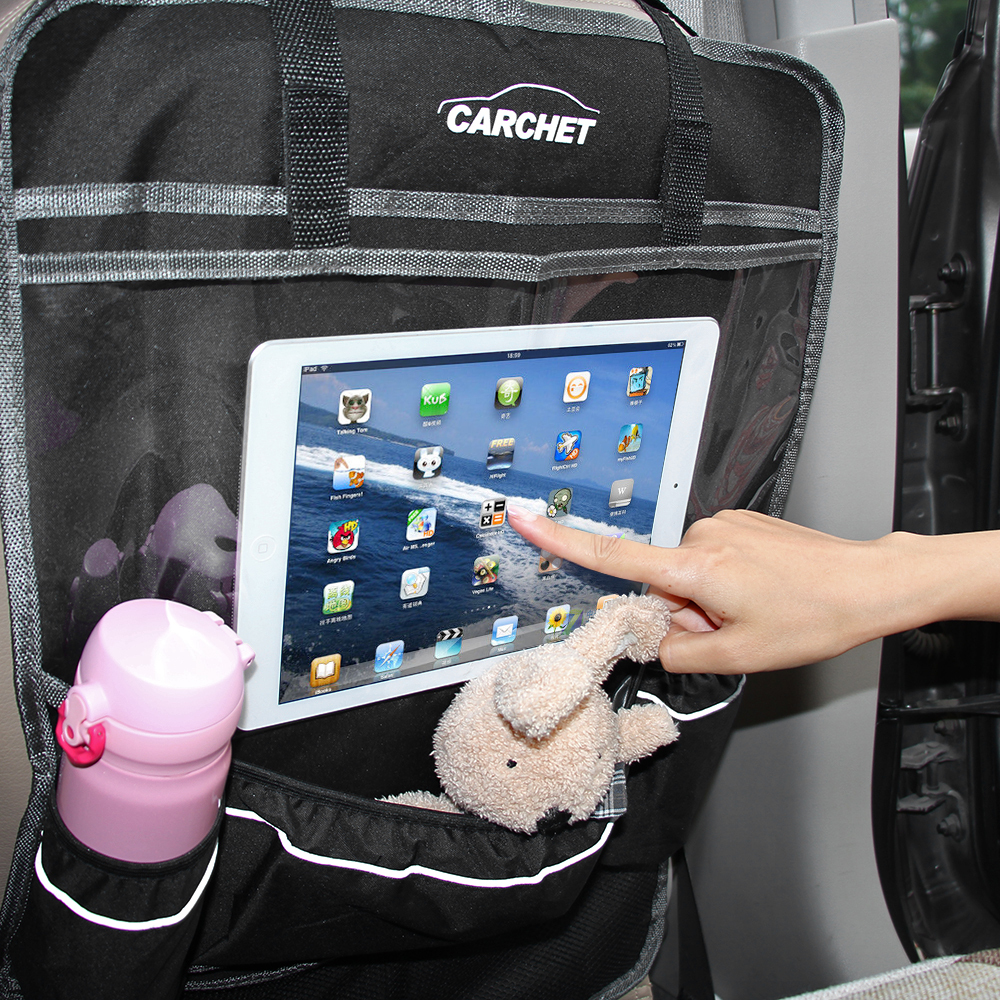 Car Seat Back Organizer with Tablet Holder - Touch Screen Ba