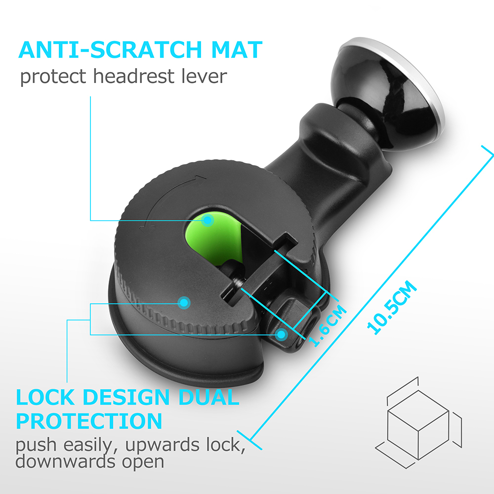 2 Multifunction Magnetic Car Headrest Stands for Tablet Smar