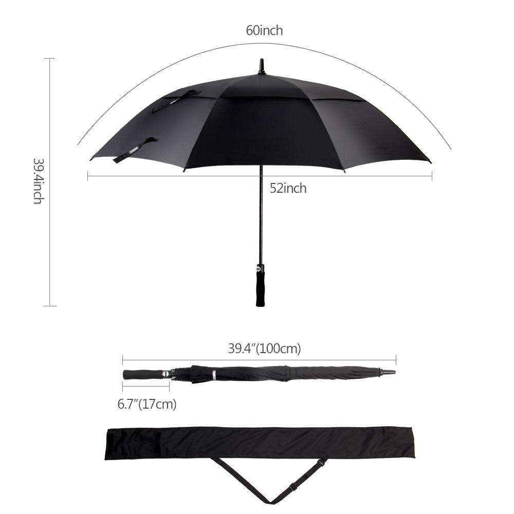 Golf Umbrella, Large Windproof Umbrella for Men, 62'' Wind R