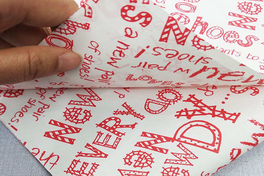 Logo printed tissue paper wrapping clothes with company logo