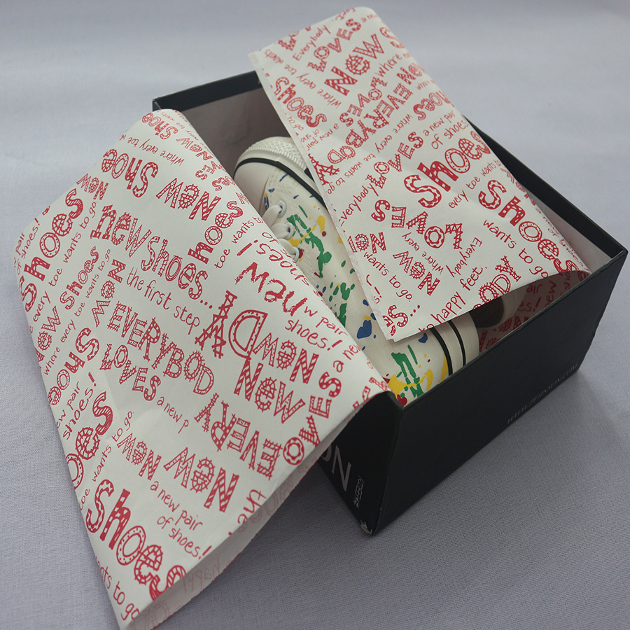 Customized new arrival shoes cloth wrapping paper