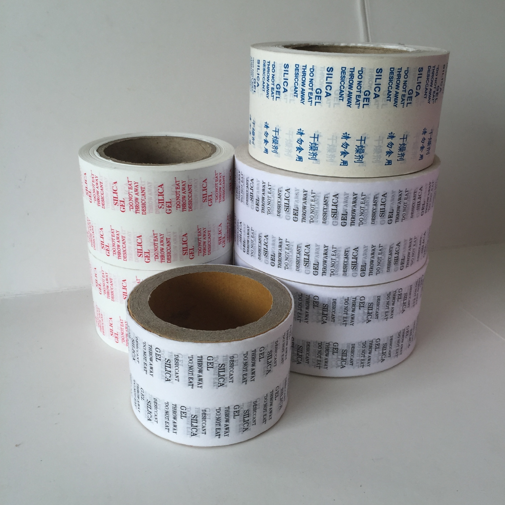 Heat sealing packaging custom printing desiccant paper silic
