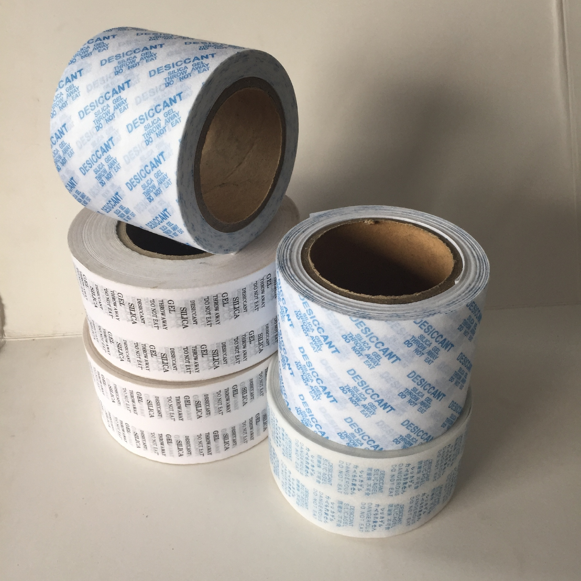 Desiccant packaging paper roll, waterproof paper, silica gel