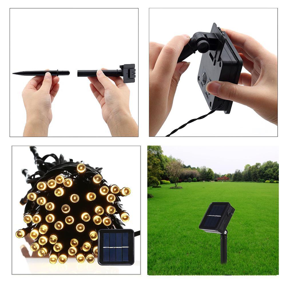 8 Modes Solar Fairy String Garden LED Decorative Lights