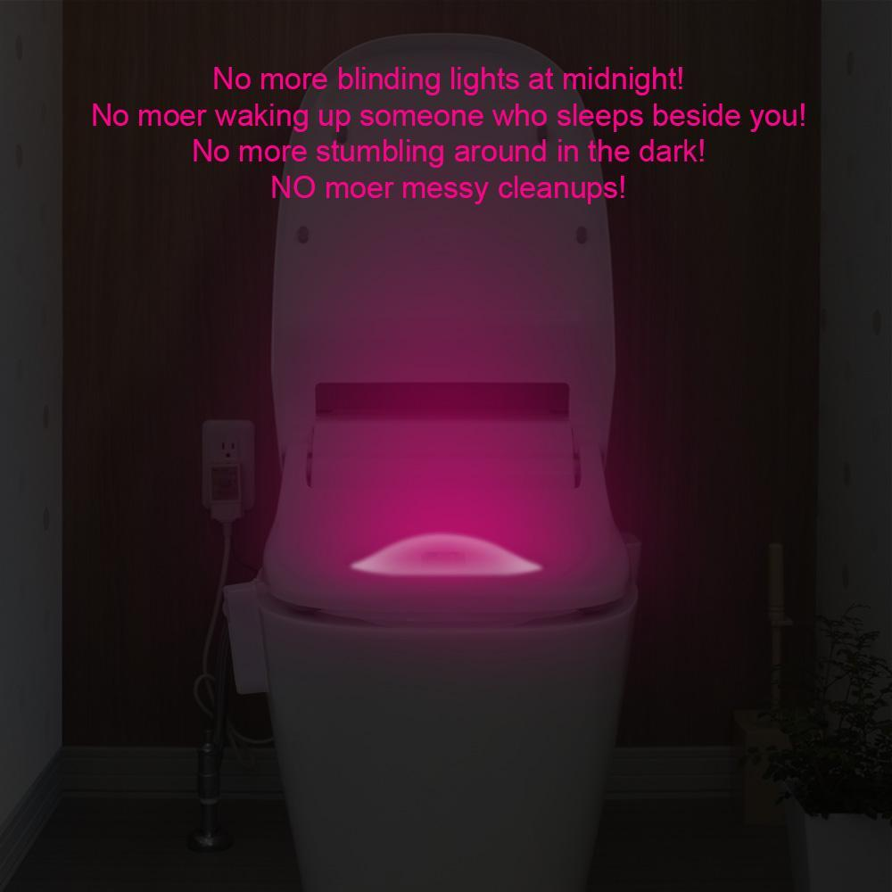 Toilet Seat 8 Colors LED Night Light Sensor Motion Activated
