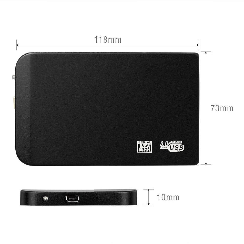 MEMTEQ 2,5-Zoll-Festplattengehäuse SATA USB 3.0 HDD externe