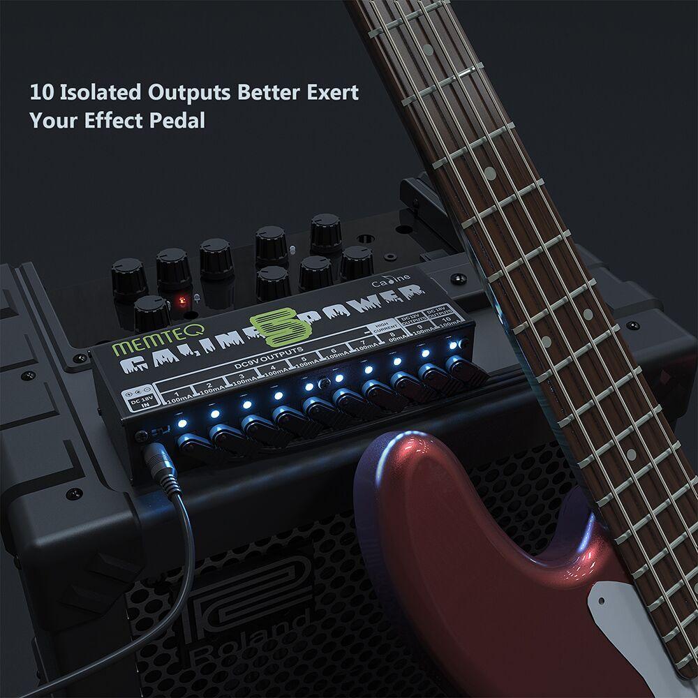 Guitarra pedal Fuente de alimentación - MEMTEQ 10 Salida DC