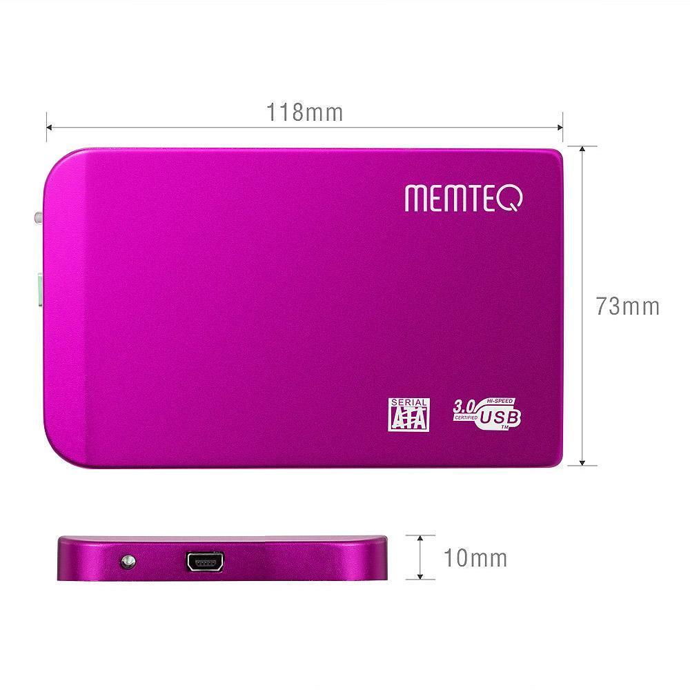 """MEMTEQ a 2.5 """"custodia esterna USB 3.0 per HDD SATA HDD e di"""