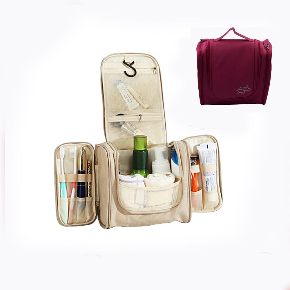 Waterproof Hanging Toiletry Bag Travel Cosmetic Makeup Bag for Women ... 8ec562d57ad2b