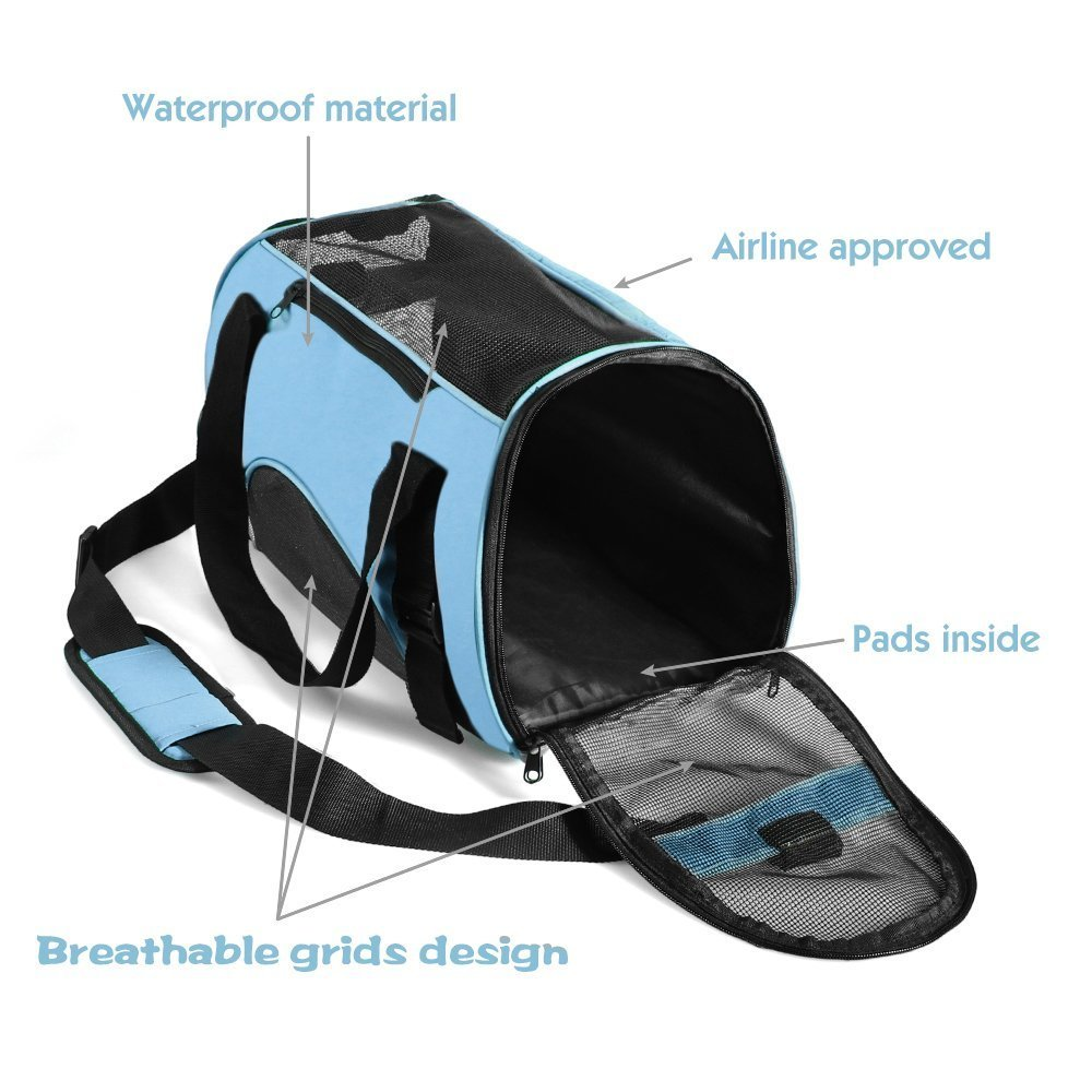 marsboy Portable Pet Carrier for Small Dogs Airline Approved