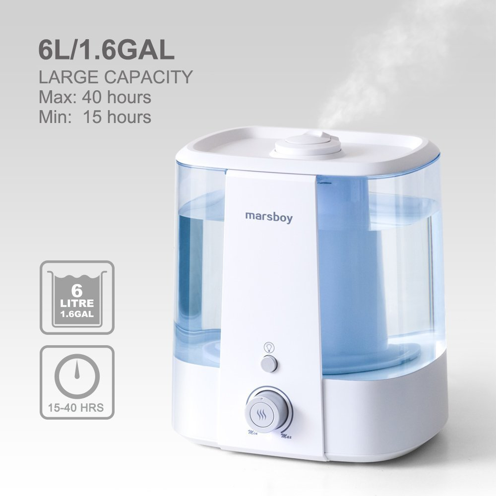 Humidificateurs à ultrasons ultra légers 6L