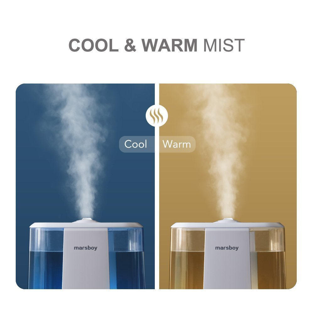 6L Ultrasonic Cool and Warm Mist Humidifiers