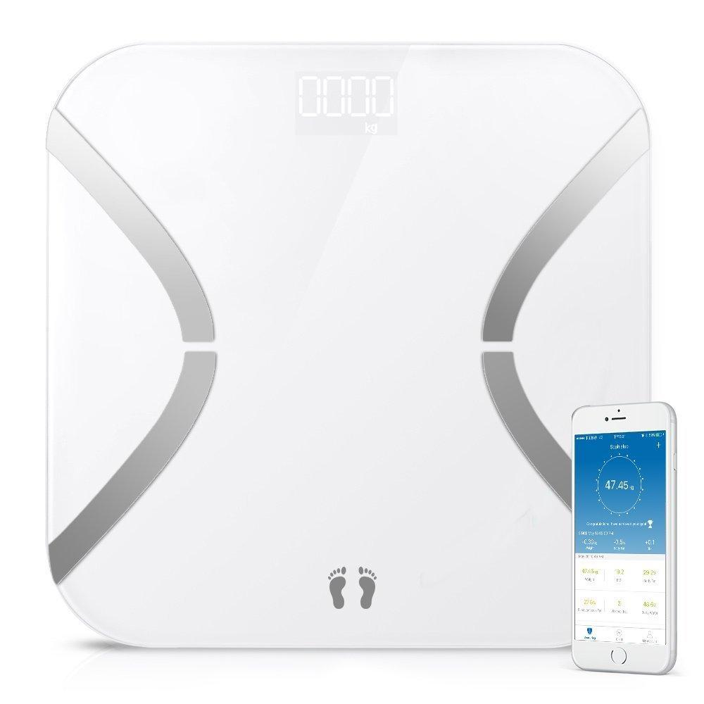 Body Fat Skalen, marsboy Wireless Bluetooth Scale, Fat Monit