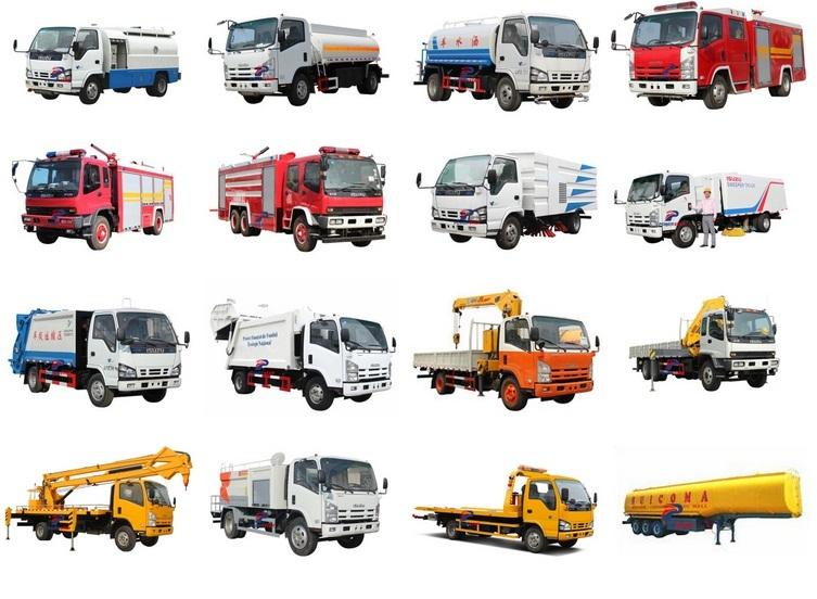 Modello di veicolo chassis camion Isuzu Cina