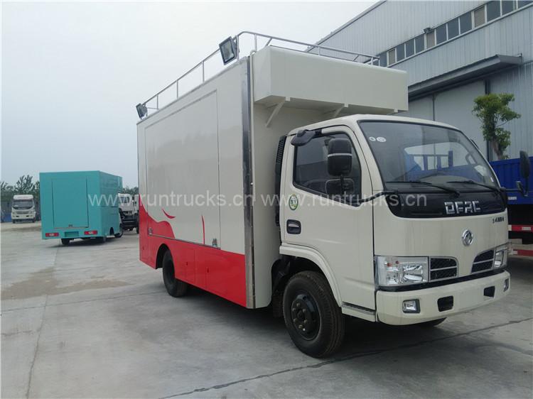Dongfeng caminhão de comida móvel usado como cantina de comi