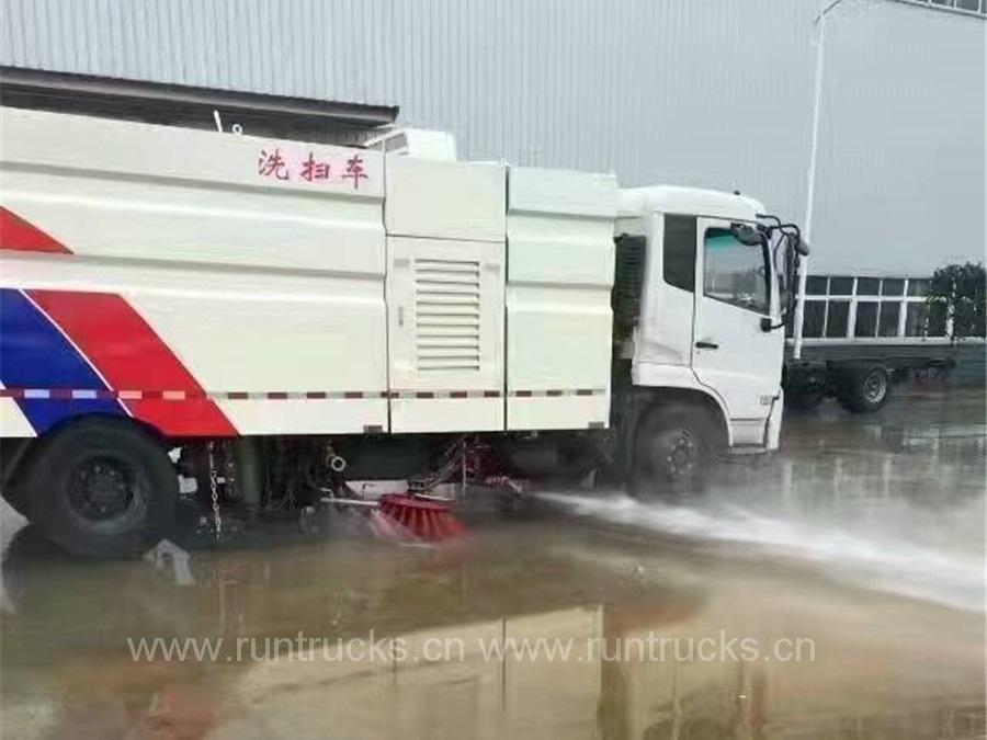 中国東風天津真空ストリートスイーパートラック