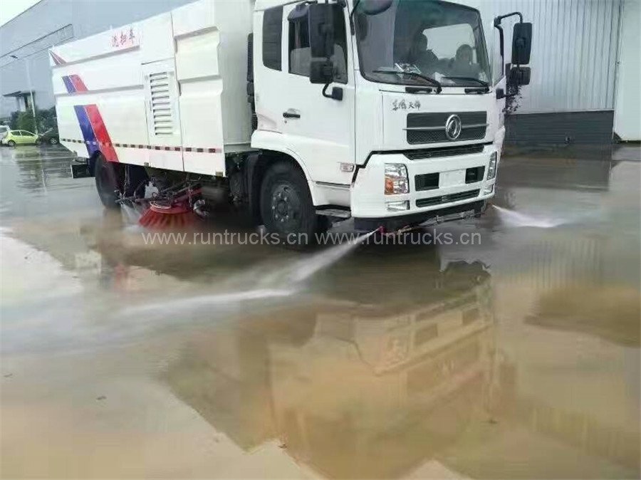 Cina Dongfeng Tianjin Vacuum Street Spazzatrice Truck