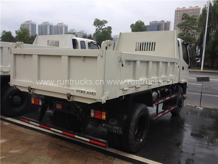 Çin Foton 5Ton 6 tekerlekli tüm teker çekici Damperli Kamyon