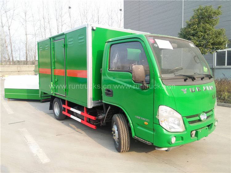Chariot à fourgon en Chine pour le transport de marchandises