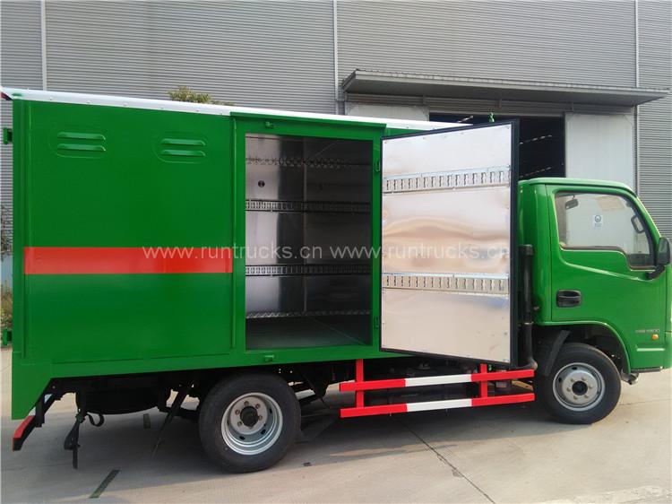 China Van Type Грузовик для перевозки легковоспламеняющихся