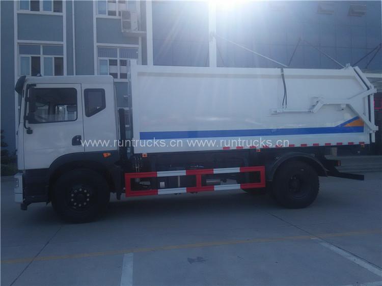15 cbm dongfeng docking autocarro con raccolta rifiuti
