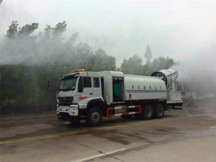 Toz bastırma kamyonu Yerinde test ve etki ekranı