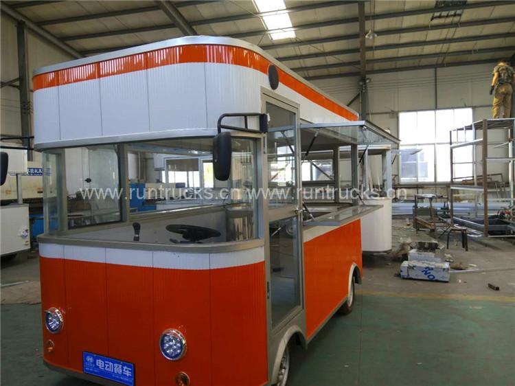 China elektrische mobile Lebensmittel-LKW für Lebensmittel v