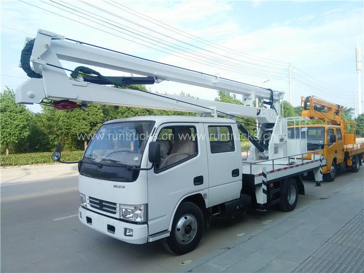 Camion de plate-forme de travail à haute altitude Dongfeng