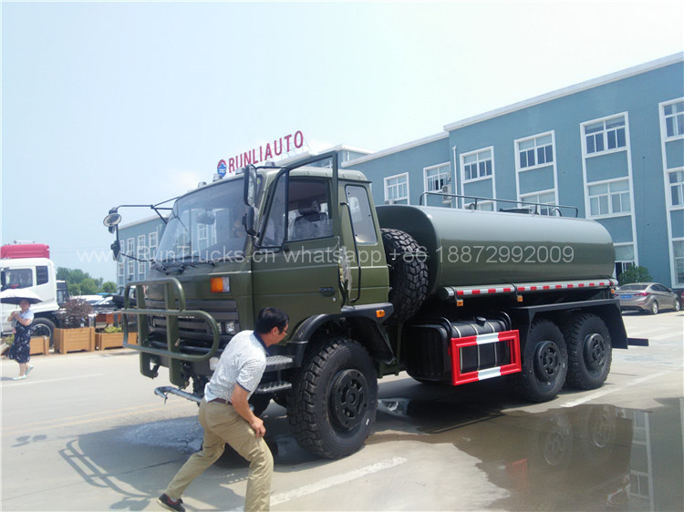 Dongfeng 6wd水車、カザフスタン、軍事用水トラックの配信画像