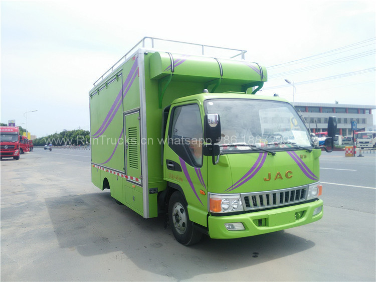 China JAC 120 caballos de energía de camiones de alimentos m
