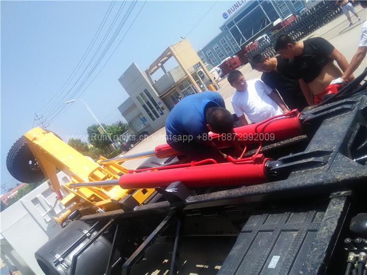 Dongfeng Hook braccio sollevamento camion rifiuti
