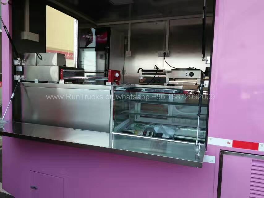 中国fotonモバイル食品車両icecreamマシン、冷凍庫、などを含む完全な機器で...
