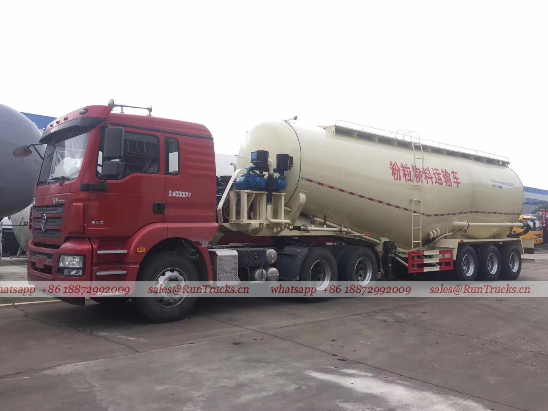 Shacman trailer de caminhão de carga a granel de 45 cbm para