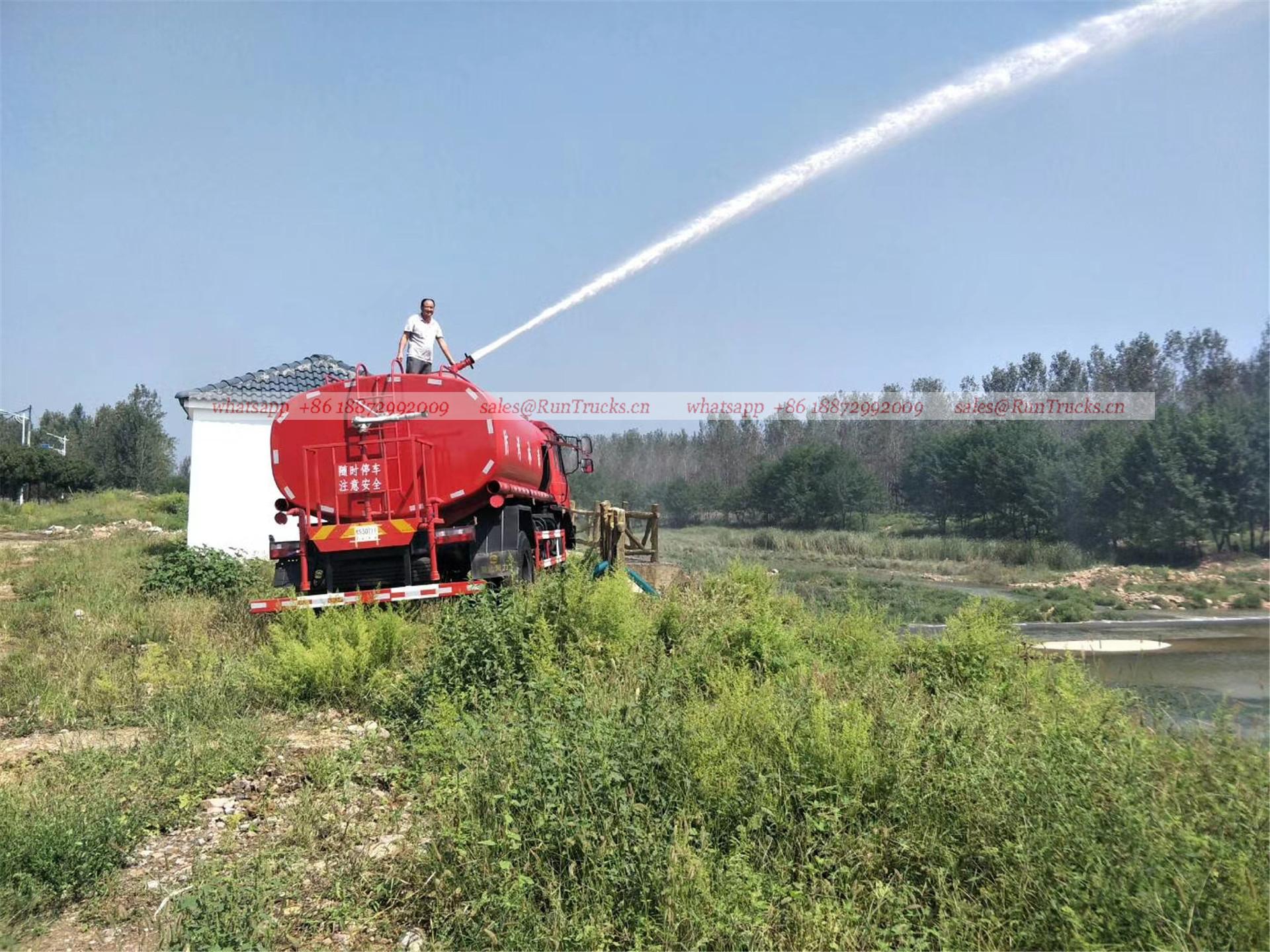 China dongfeng 10 cbm agua fuego lucha camión