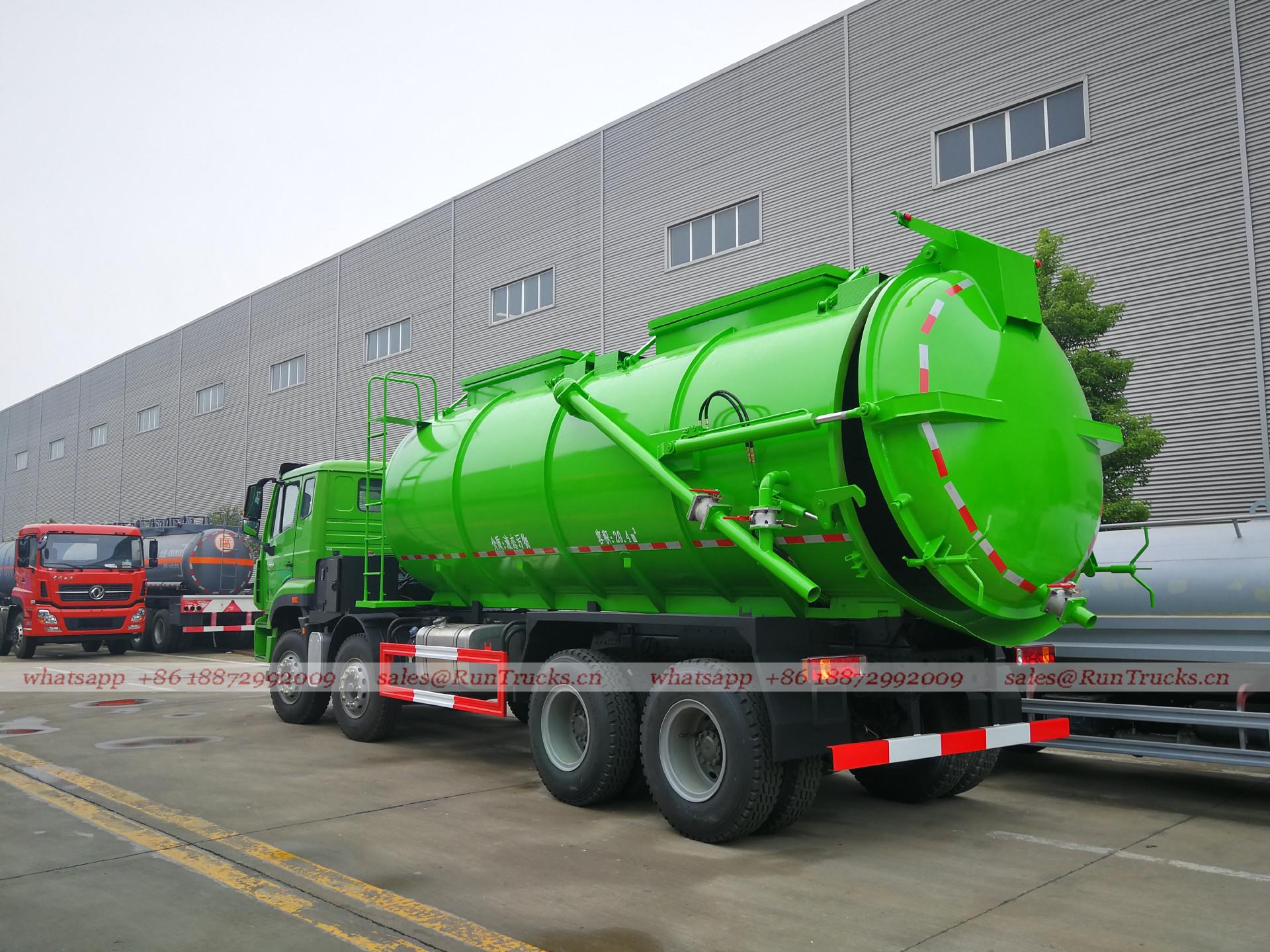 China SinoTruk poids lourd 4 essieux 20cbm camion d'aspirati