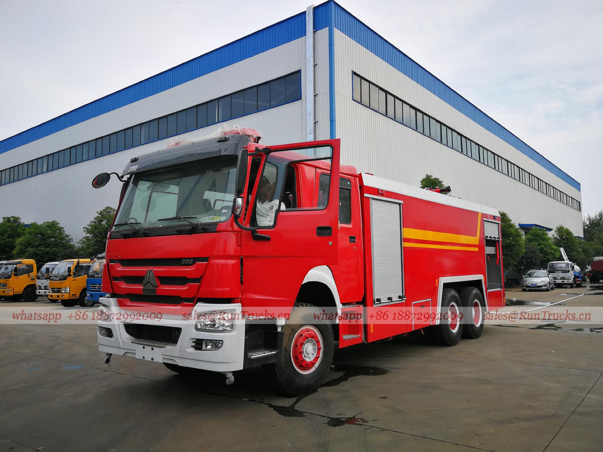 Chine Howo 336 camion de lutte contre l'incendie d'eau, cami