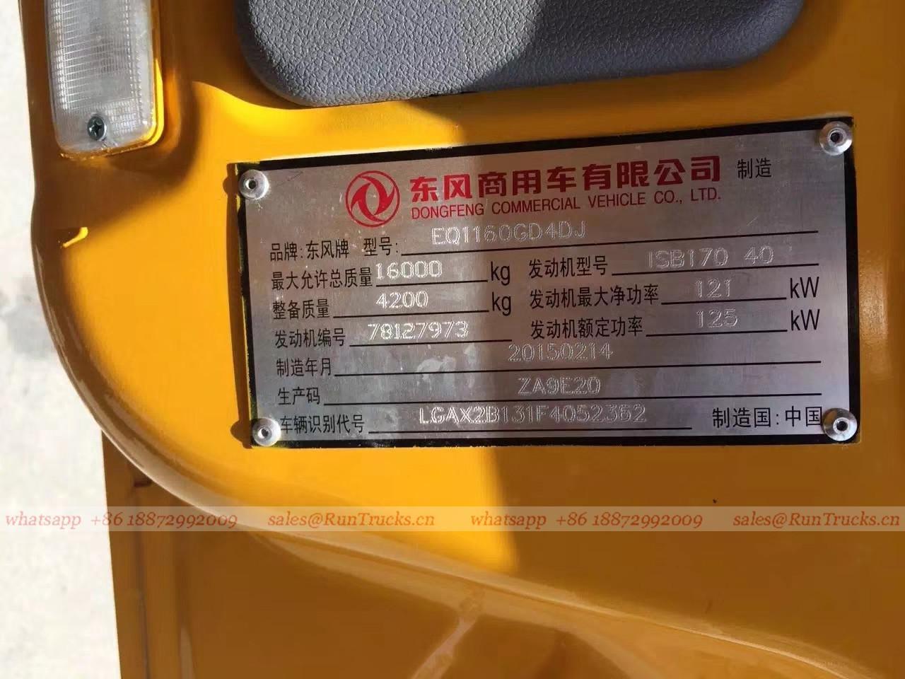中国dongfeng 22メートル高空の作業プラットフォームのトラック
