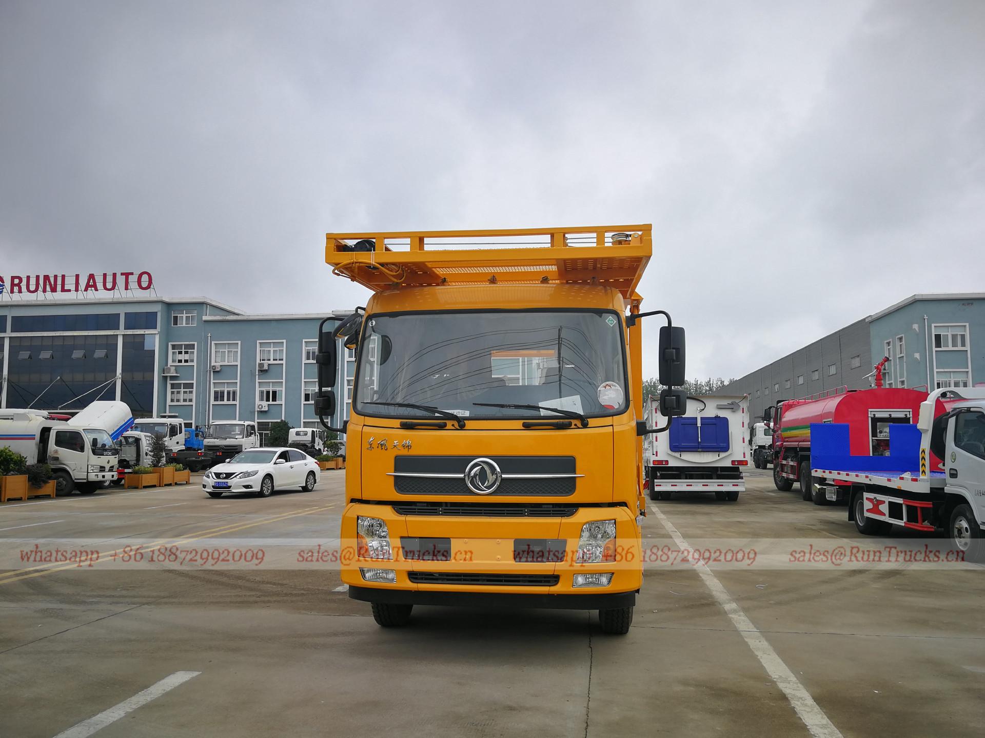 Китай Dongfeng автомобильный прицеп, 2 слоя 4 автомобиля тра