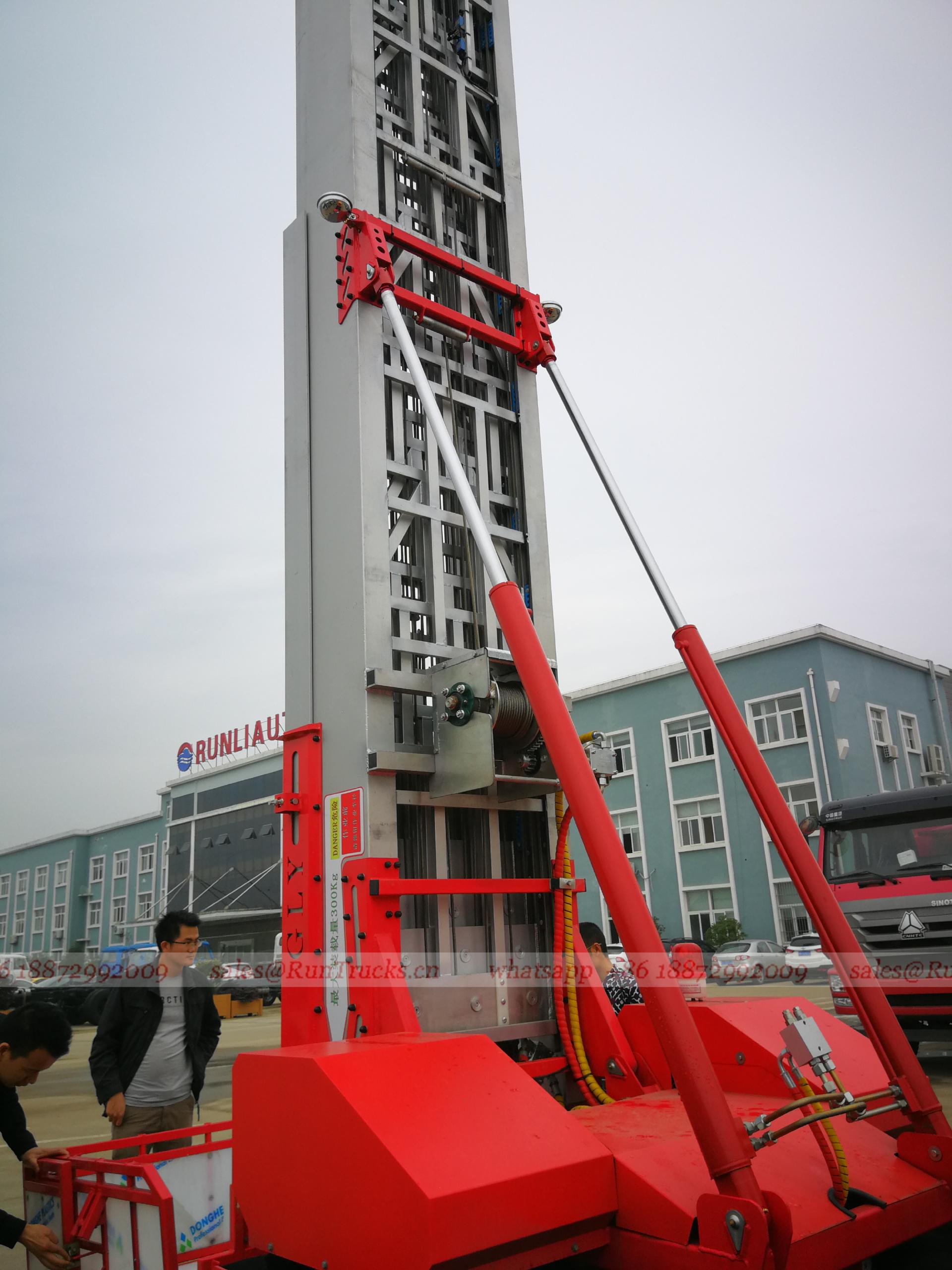 China JMC Ciudad escalera de elevación de altura vehículo en