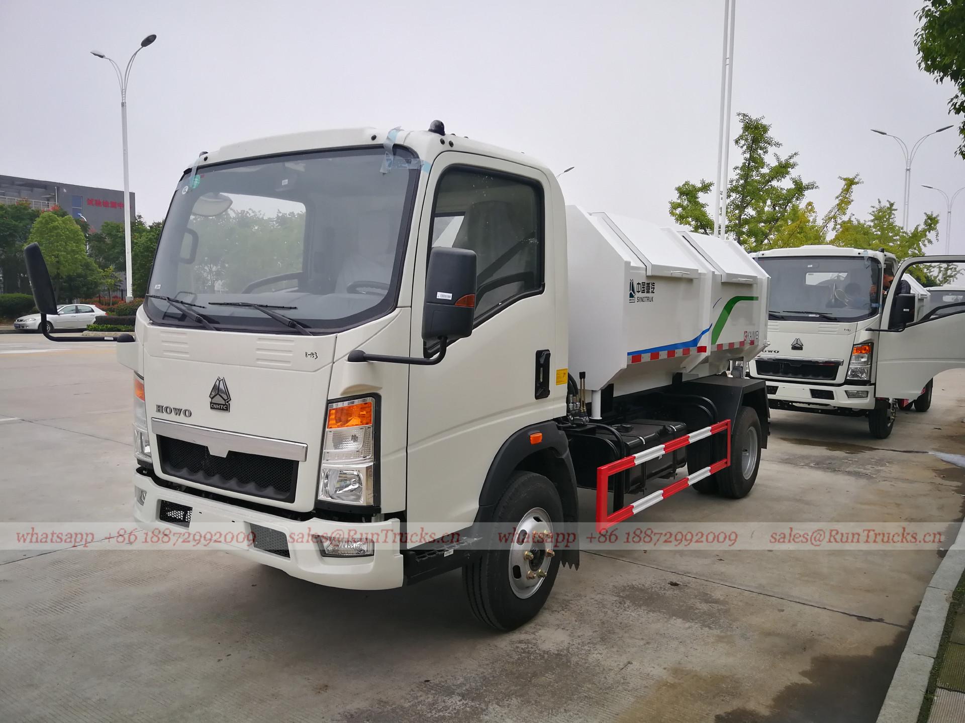 China Sinotruk Abfall / Müllsammlung Müllwagen