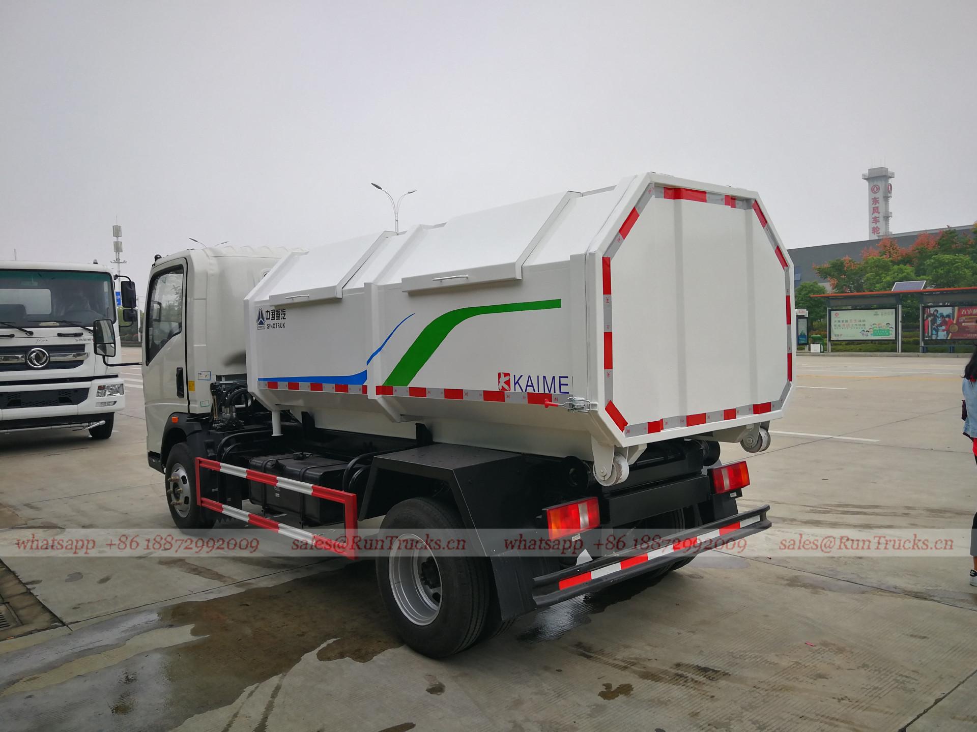 China Sinotruk lixo / lixo coleção lixo caminhão
