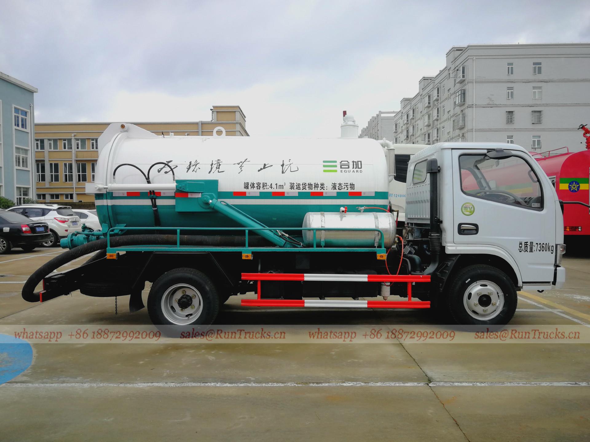Çin Septik tanker kamyon, Kanalizasyon Fekal Emme Kamyon üre